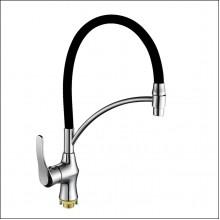 Смеситель/кухня OUTE T2613B-2 с гибким изливом черный